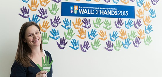Officeworks customers raise their hand for literacy
